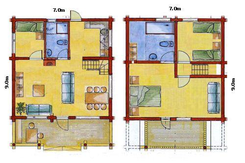 18 planos de casas de madera planos y fachadas todo for Distribucion de una casa de una planta