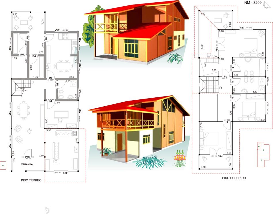 18 planos de casas de madera planos y fachadas todo - Planos casa de madera ...