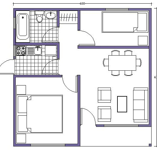 20 planos de casas chicas planos y fachadas todo para - Planos cocinas pequenas ...