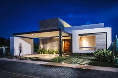Fachadas de casas modernas de un piso Planos y Fachadas