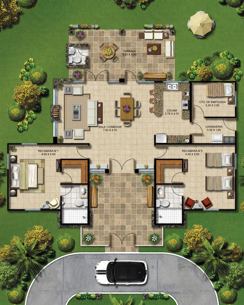Planos de casas de campo planos y fachadas todo para for Casa moderna jardin d el menzah