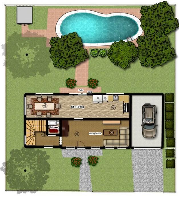 Planos de casas de campo planos y fachadas todo para for Casas de campo modernas con piscina