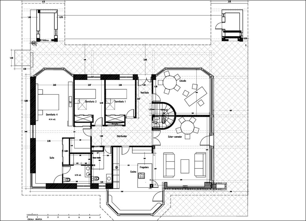 Planos de casas de campo Planos y Fachadas