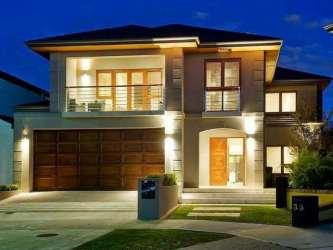 Fachadas de casas modernas de dos pisos Planos y Fachadas