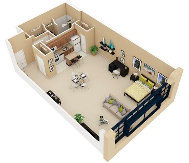 Planos de departamentos peque os planos y fachadas for Diseno de apartamento de soltero