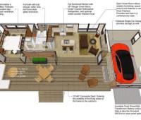Originales planos de casas de madera con dimensiones
