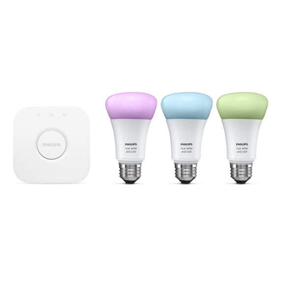 Philips Hue White and Color Wireless Ambiance Starter Kit A19 E26 Image