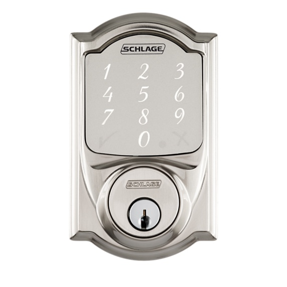 Schlage Sense Smart Deadbolt with Camelot Trim Image