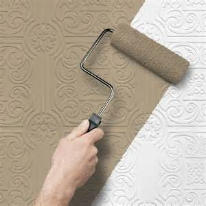 Texturing and Painting over Wallpaper