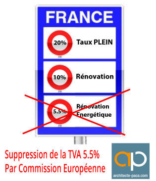 Tva 5 5 b timent supprim par la commission europ enne for Taux de tva travaux de renovation