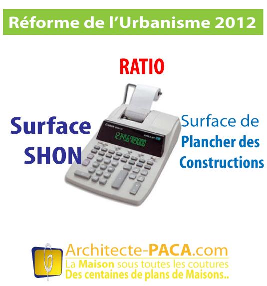 Ratio Shon Surface De Plancher Des Constructions