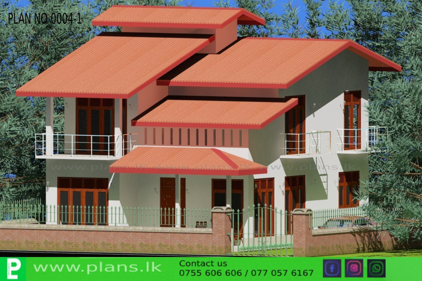 PLAN-0004-1 | Plans.lk - Home Plans Sri Lanka