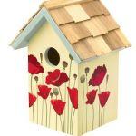 poppy birdhouse