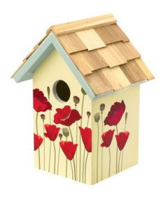 poppy birdhouse