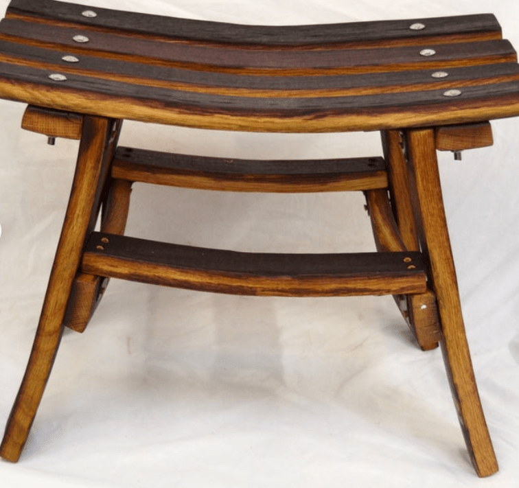 <img source = 'pic.gif' alt = 'Bench made from barrel staves'/>