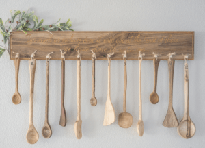 <img source = 'pic.gif' alt='Wooden service spoons'/>