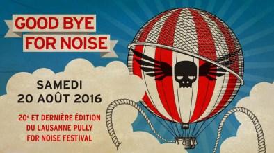 AOÛT   Mauvaise nouvelle en revanche pour le For Noise qui arrête après sa vingtième édition. Image : FOR NOISE. LIRE L'ARTICLE: https://planscultes.ch/2015/12/16/for-noise-arrete/