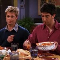En couple avec Jennifer Aniston, Alias Rachel dans Friends, Brad Pitt a rejoint la bande le temps d'un épisode au cours duquel on apprend que lui et Ross avait créé le club des détesteurs de Rachel.