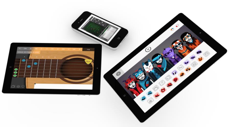 professeur de musique : ipads et smartphones