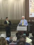Rev. Lynn Downing e Rev. Valdeci Santos