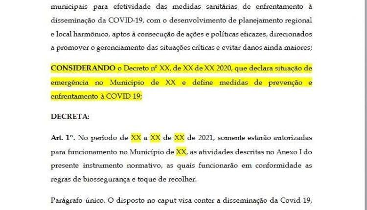 Prefeitos de MS fazem rascunho de decreto e querem antecipar feriados como Campo Grande