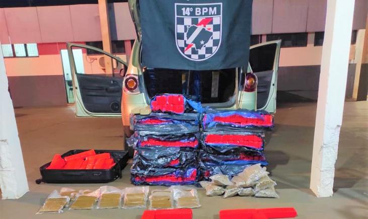 Polícia Militar de Vista Alegre apreende grande quantidade de drogas