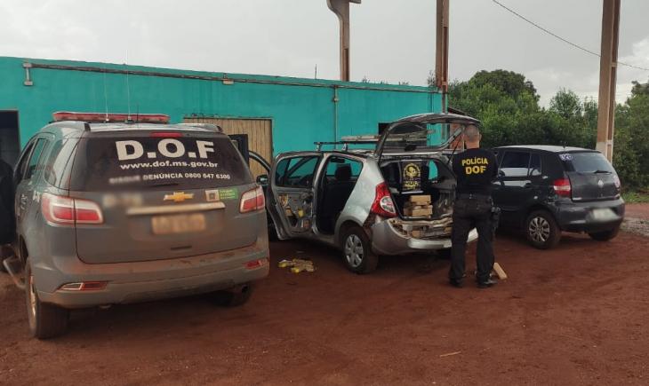 Maracaju, DOF apreende veículo com mais de 100 quilos de maconha  pelo DOF