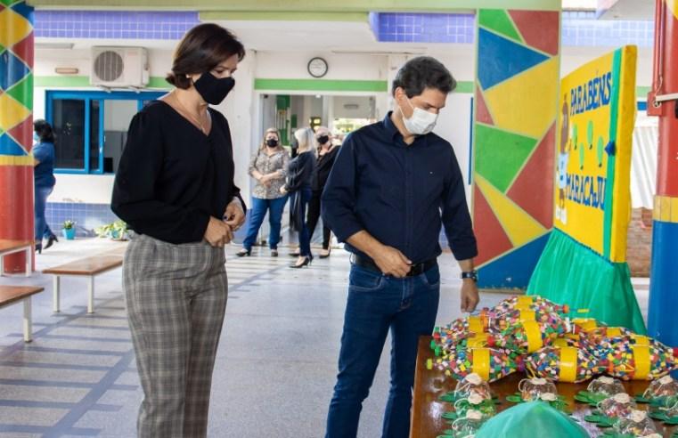 Professores da rede municipal criam brinquedos a partir de materiais reciclados