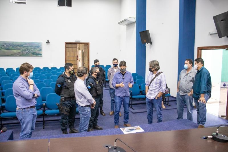Prefeitura e PRE se mobilizam para implantação de um novo posto policial em Maracaju