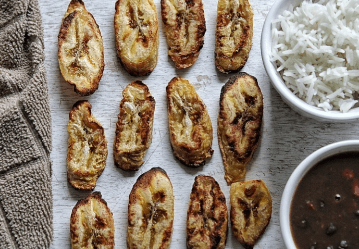Oven-baked plantains