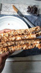 Grilled Cinnamon Raisin PB&J Sandwich