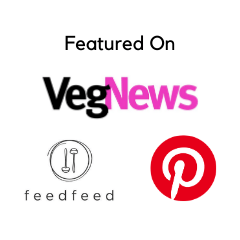 Featured on VegNews, FeedFeed, and Pinterest logos