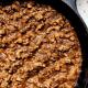 Tofu chipotle sofritas recipe in a cast-iron skillet