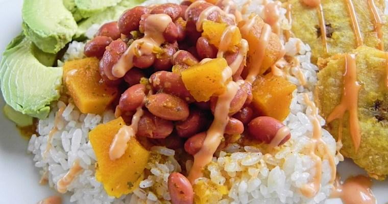 Arroz y Habichuelas Guisadas/Rice and Puerto Rican Stewed Beans
