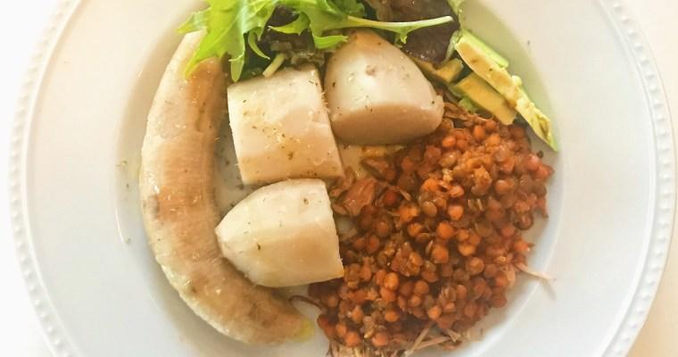 """Vianda con """"Bacalao"""" Guisado/Root Vegetables and Stewed """"Cod"""""""