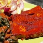 Vegan BBQ Ribs & Cucumber Onion Salad