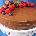 Vegan Sugar & Gluten Free Chocolate Birthday Cake