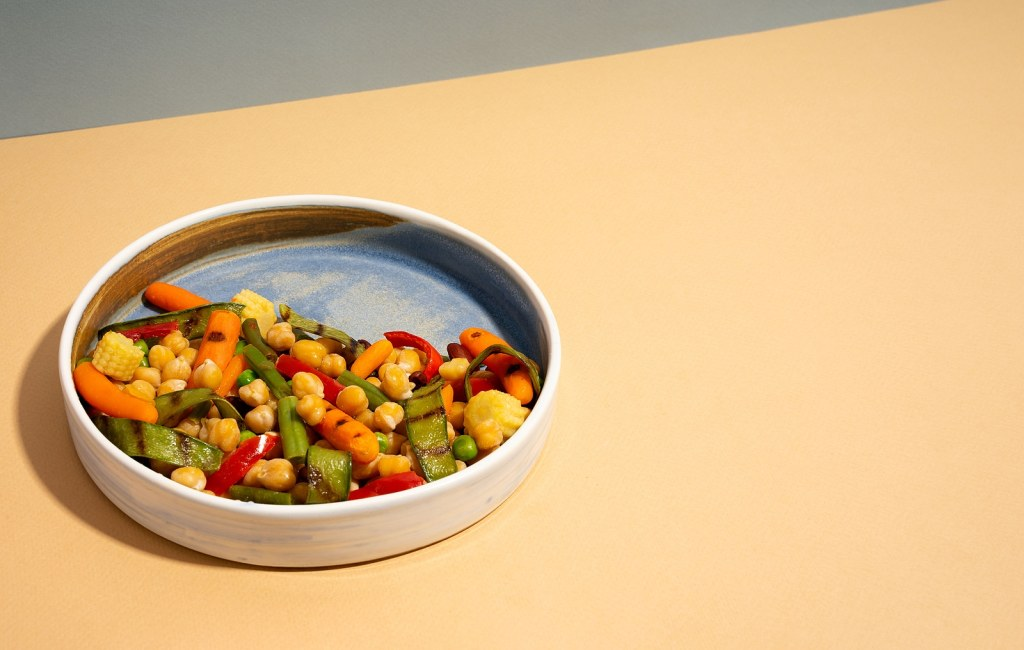 chick-pea chickpeas with vegetables