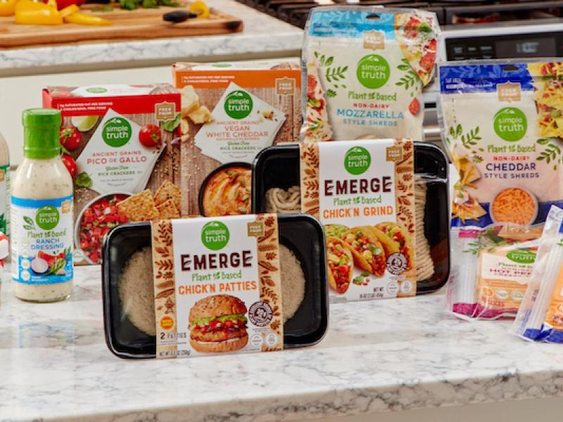 New vegan products from Kroger's Simple Truth line