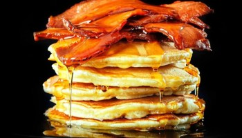 Vegan Bacon on pancakes