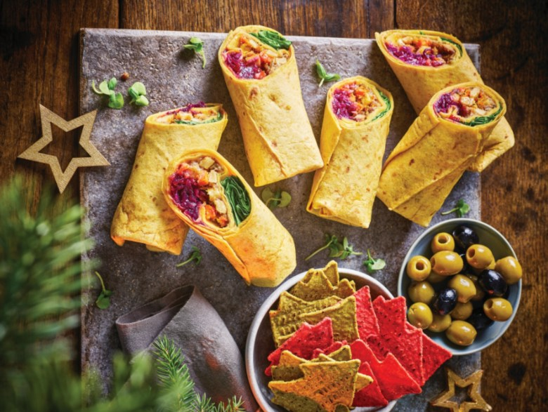 Tesco's Plant Chef vegan Christmas wrap