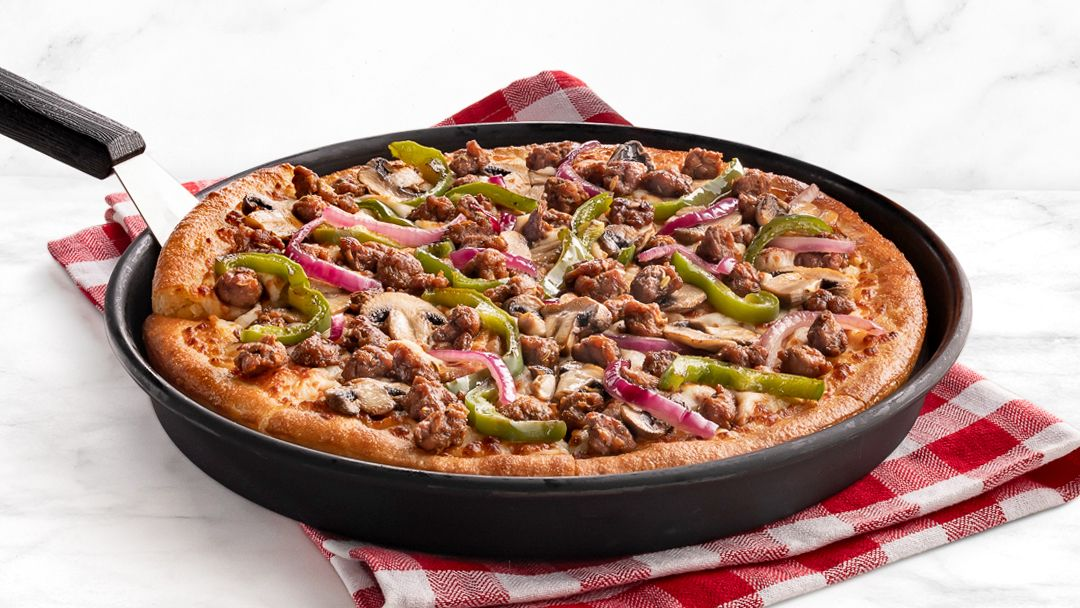 Pizza Hut Beyond Meat pie, which is served in Puerto Rico