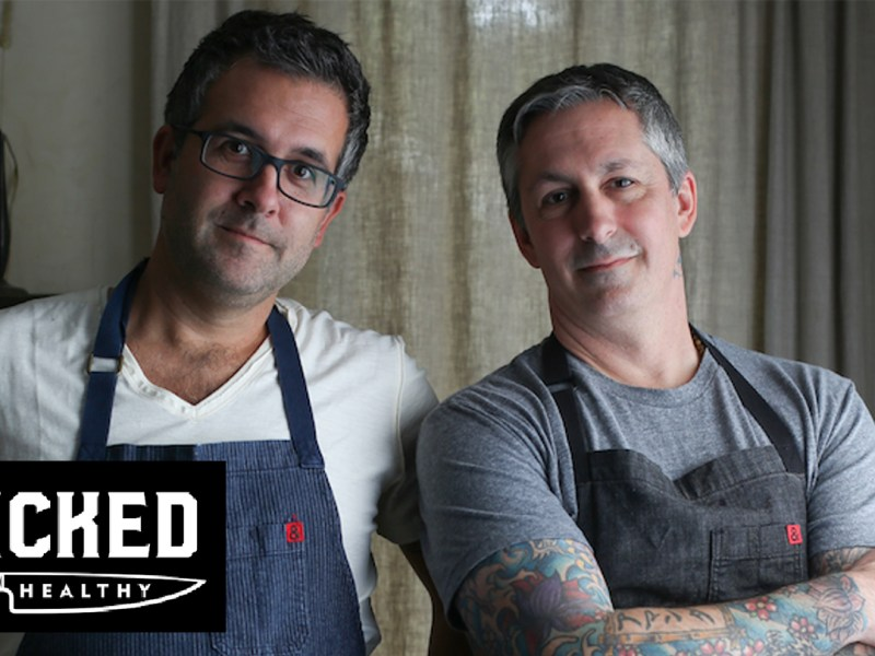 Derek and Chad Sarno who created Wicked Foods