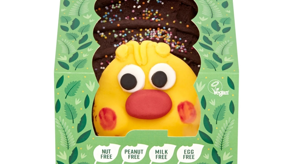 Archie the caterpillar cake is launching in vegan form