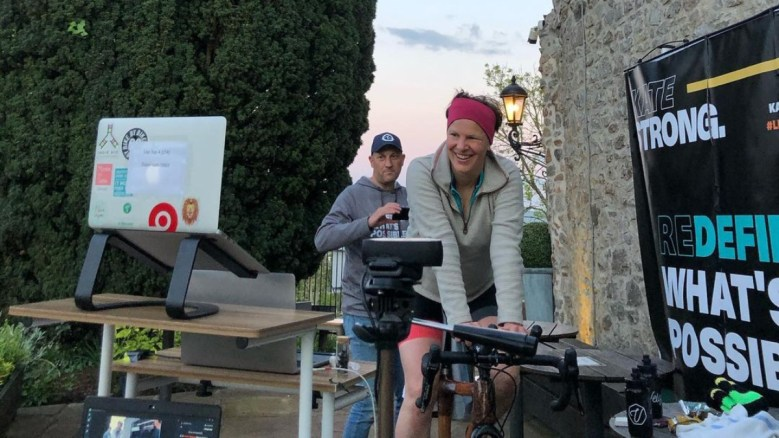 Vegan athlete Kate Strong smashes three world records for static cycling in 24 hours