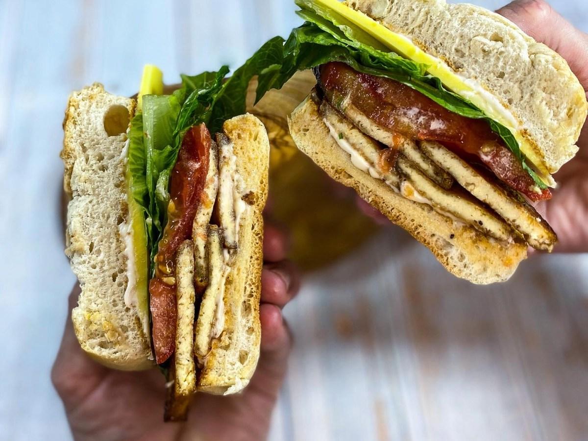 tofu bacon sandwich