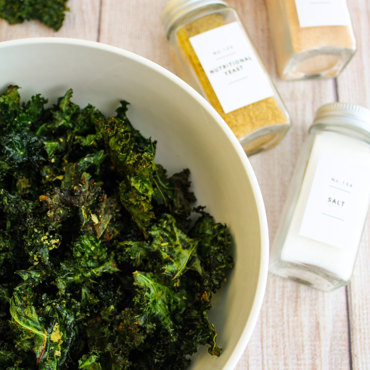 Easy air fried kale chips