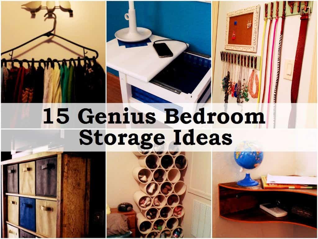 15 Smart Bedroom Storage Ideas