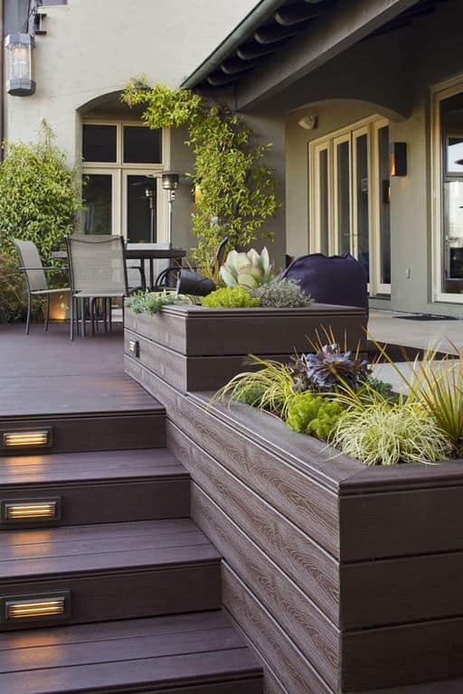 27 Outdoor Step Lighting Ideas That Will Amaze You   Front Stairs Designs With Landings   Small Space   Flared   Architectural   Exterior   Curved
