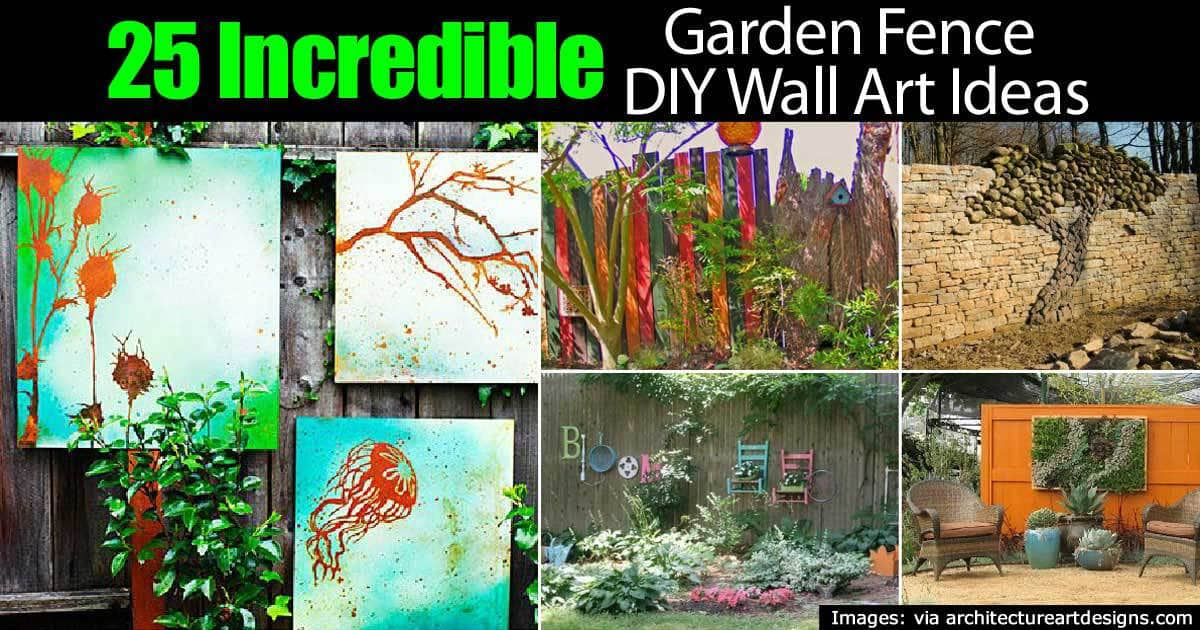 25 Inspiring Wall Art Ideas For The Garden Fence